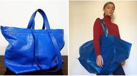 Tote bag biru keluaran Balenciaga yang disebut mirip dengan tas belanja IKEA. (dok. Instagram @ne_ung/https://www.instagram.com/p/BXlBBmDFxoX/ @rafinaschmid/https://www.instagram.com/p/BV_bW8HFGZ8/)