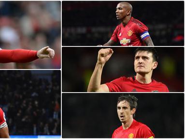 Manchester United baru saja menunjuk Harry Maguire sebagai kapten untuk musim 2020 ini. Berikut deretan kapten Manchester United di era Premier League. (Kolase foto AFP)
