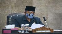 Walikota Cirebon Nashrudin Azis mengaku akan memperketat disiplin protokol kesehatan. Foto (Liputan6.com / Panji Prayitno)