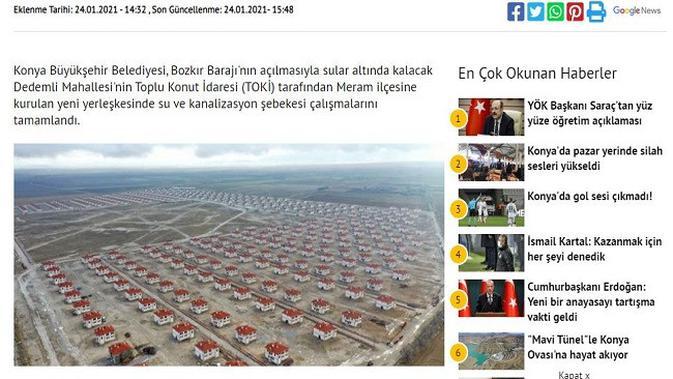 Gambar Tangkapan Layar Artikel dari Situs konhaber.com