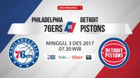 Philadelphia 76ers Vs Detroit Pistons (Bola.com/Adreanus Titus)