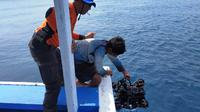 Pencarian tiga penyelam yang hilang di perairan Pulau Sangiang, Kabupaten Serang, Banten. (Liputan6.com/Yandhi Deslatama)