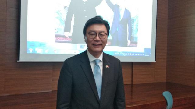 Duta Besar Korea Selatan untuk Indonesia, Kim Chang-beom setelah memberi paparan mengenai bentuk kerjasama Inter-Korea (Lipuatn6.com/Happy Ferdian)