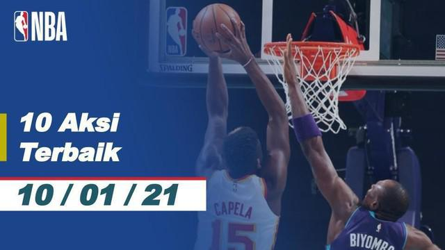 Berita video 10 aksi terbaik NBA 10 Januari 2021, salah satunya aksi slam dunk keren dari Caleb Martin