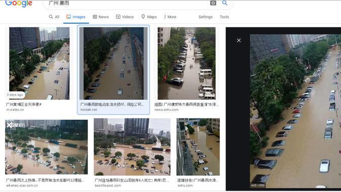 Beredar foto yang diklim banjir Singapura