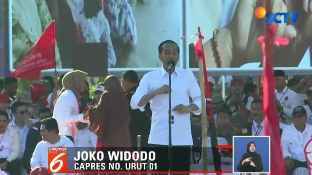 Jokowi mengharapkan perolehan suara minimal 70 persen di wilayah Batam.