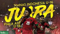 Timnas Indonesia juara Piala AFF U-16 2018. (Bola.com/Dody Iryawan)