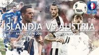 Eropa 2016 Islandia Vs Austria (Bola.com/Adreanus Titus)