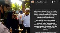 Unggahan 5 Artis Tanggapi Video Ibu Tuding Tetangga Babi Ngepet Ini Jadi Sorotan (sumber: Instagram/ariefmuhammad/raditya_dika)