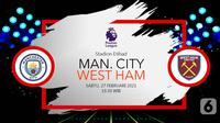 Manchester City vs West Ham (liputan6.com/Abdillah)