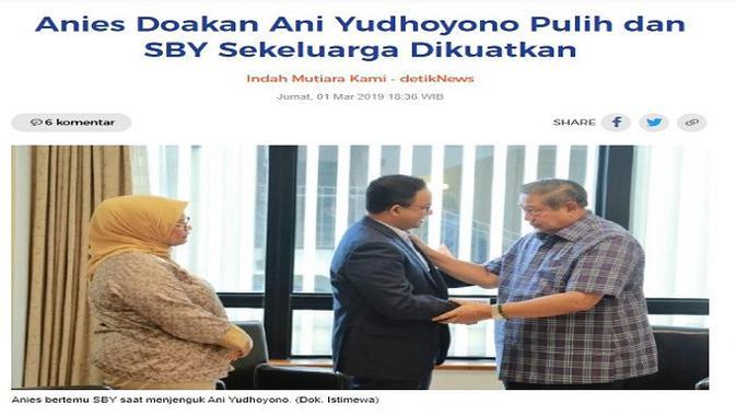 Gambar Tangkapan Layar Artikel dari Situs detik.com.