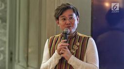 Perwakilan proyek film Mansinam (Man Is Man) Yudhi Purwanto Harjono memberi keterangan  di Jakarta, Minggu (12/5/2019). Film yang digarap oleh tim ahli dari Hollywood ini akan bercerita tentang perjalanan dua orang dari Jean, Belgia, ke Mansinam tanah Papua. (Liputan6.com/Johan Tallo)
