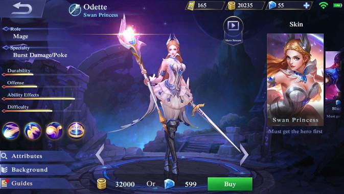 Odette di Mobile Legends. Liputan6.com/ Yuslianson