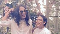 Kabar pernikahan Aming Sugandi dan Evelyn Nada Anjani memang menarik perhatian netizen di tanah air. (instagram/Bintang.com)