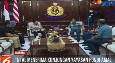 Dalam pertemuan itu, Imam berterima kasih atas kerjasama dan dukungan TNI AL selama ini kepada Yayasan Peduli Kasih Pundi Amal SCTV.