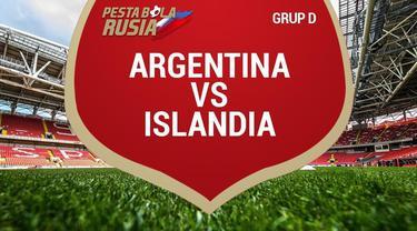 Timnas Islandia membuat Timnas Argentina terkejut pada laga perdana Grup D Piala Dunia 2018 di Otkrytiye Arena, Sabtu (16/6). Kedua tim bermain imbang 1-1.