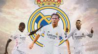 Real Madrid - Paul Pogba, Erling Haaland, Kylian Mbappe (Bola.com/Adreanus Titus)