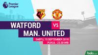 Premier League 2018-2019 Watford Vs Manchester United (Bola.com/Adreanus Titus)