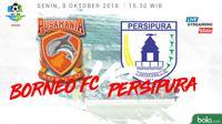 Jadwal Liga 1 2018 pekan ke-24, Borneo FC vs Persipura Jayapura. (Bola.com/Dody Iryawan)