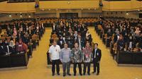 Sosialisasi Empat Pilar MPR dihadiri seratus lebih peserta mahasiswa dan mahasiswi serta dosen pendamping Sekolah Tinggi Ilmu Administrasi Lembaga Administrasi Negara (STIA LAN) Bandung, Jawa Barat, di Gedung Nusantara V.