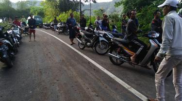 Daerah Perbatasan Cisewu Garut dan Pangalengan sudah bisa dilalui pengguna jalan dari kedua arah