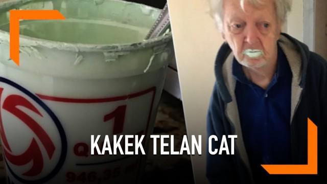 Saking menyukai yoghurt, seorang kakek bernama Bobby tak menyadari telah menelan setengah kaleng cat tembok yang dikiranya sebagai yoghurt.