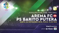Arema FC vs PS Barito Putera