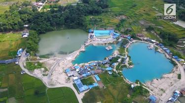 Tak jauh dari Jakarta, ada tempat wisata unik yang disebut Telaga Biru Cisoka. Destinasi ini menyimpan keindahan dari tiga danaunya yang memiliki warna berbeda.