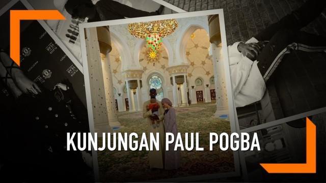 Paul Pogba mengajak keluarga  serta pacar cantiknya, Maria Zulay melakukan wisata Ramadan di Dubai. Salah satu tempat yang dikunjunginya adalah Masjid Agung Sheikh Zayed, yang merupakan masjid termegah di Dubai.
