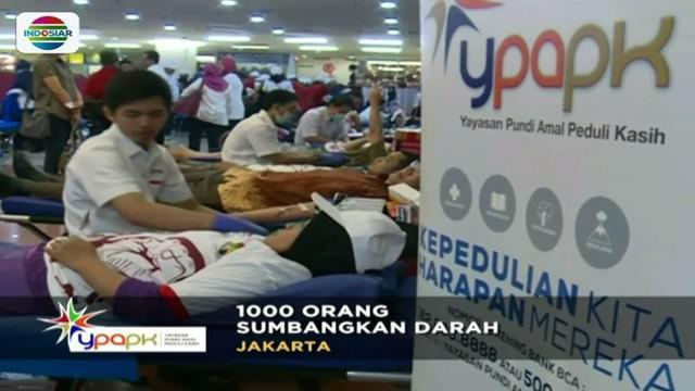 Yayasan Pundi Amal Peduli Kasih (YPAPK) SCTV-Indosiar menggelar donor darah pada Sabtu, 28 Oktober 2017.