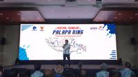 Menkominfo Rudiantara berbicara tentang Palapa Ring di Jakarta, Rabu (20/3/2019). Liputan6.com/ Agustin S. Wardani