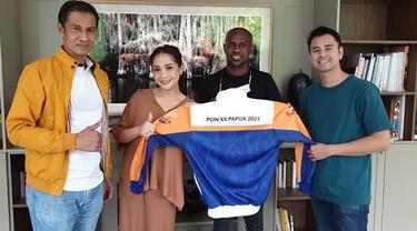 Raffi Ahmad dan Nagita Slavina Jadi Ikon PON Papua 2021