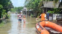 Ilustrasi – Banjir di Sidareja, Cilacap. (Foto: Liputan6.com/Muhamad Ridlo)