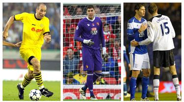 Foto kolase pemain di era modern ini yang memiliki tinggi hingga lebih dari 2 meter. (Foto: AFP)