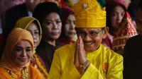 BJ Habibie ketika memakai baju Melayu Riau di Istana Negara saat upacara peringatan kemerdekaan Indonesia tahun 2018. (Liputan6.com/Istimewa/M Syukur)