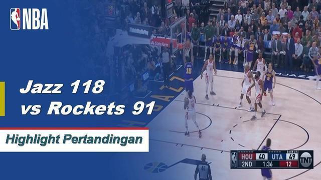 Derrick Favors menggantikan Rudy Gobert yang diusir pada permulaan pertandingan dengan mencetak 24 poin dan 10 rebound untuk memimpin Utah Jazz dalam kunjungan Rockets