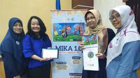 Peluncuran aplikasi perangkat lunak Media Visual Komunikasi Anak (MIKA) untuk mendukung pembelajaran anak dengan autisme. (Foto: Liputan6.com/Dian Kurniawan)