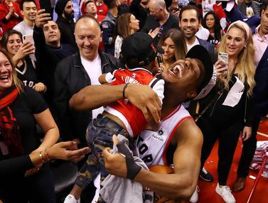 FOTO: Ukir Sejarah ke Final NBA, Toronto Raptors Berpesta
