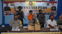 Dua orang pria ketahuan membawa ganja seberat 11 kilogram, setelah mengalami kecelakaan lalu lintas di kawasan Kecamatan Palupuah, Kabupaten Agam, Sumatra Barat, Senin 27 Juli 2020. (Liputan6.com/ Dok Polres Bukittinggi)