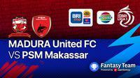 BRI Liga 1 PSM Makassar vs Madura United (Minggu, 12/9/2021)