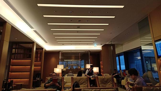 Sakura Lounge Japan Airlines di Bandara Narita (Liputan6.com/ Mevi Linawati)