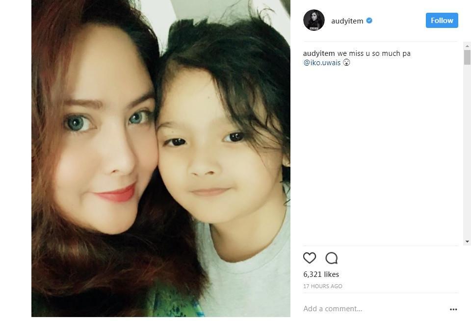 Iko Uwais beri pesan khusus untuk sang istri, Audy Item (Foto: Instagram)