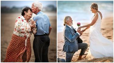Bukti Cinta Sejati, Potret 6 Pasangan Lansia Ini Harmonis Hingga Menua Bersama
