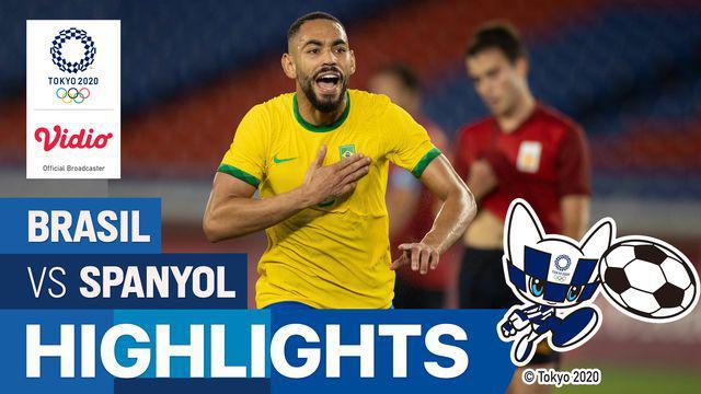 Berita video highlights kemenangan Timnas Brasil atas Timnas Spanyol dalam laga final sepak bola putra Olimpiade Tokyo 2020, Sabtu (7/8/2021) petang WIB.