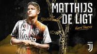 Matthijs de Ligt menerima Kopa Trophy dalam rangkaian penghargaan Ballon d'Or 2019. (Bola.com/Dok. Juventus)