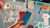 Realme C3 varian Frozen Blue dan Blazing Red. (Liputan6.com/ Agustin Setyo W)