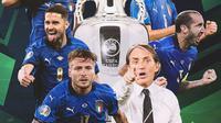 Piala Eropa - Euro 2020 Ilustrasi Timnas Italia Juara (Bola.com/Adreanus Titus)