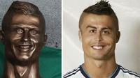 Meme patung Cristiano Ronaldo. (Via: boredpanda.com)
