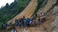 Sebuah tambang emas ilegal di Gunung Pongkor, Desa Bantar Karet, Kecamatan Nanggung, Kabupaten Bogor, longsor pada Minggu, 12 Mei 2019. (Liputan6/Achmad Sudarno)