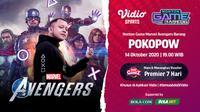 Nonton Game Bareng Pokopow: Marvel's Avengers di Vidio, Bola.com, dan Bola.net, Rabu (14/10/2020). (Sumber: Vidio)